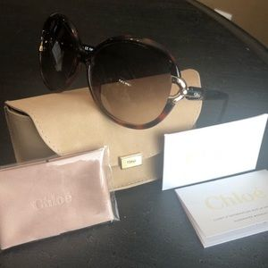 Chloé EUC CE636S 219 Tortoise Shell Sunglasses
